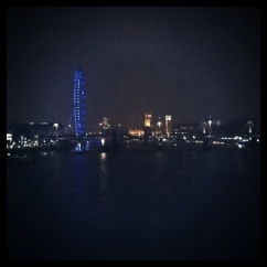 There's probably someone on the London Eye right now trying to take a picture with the flash on.