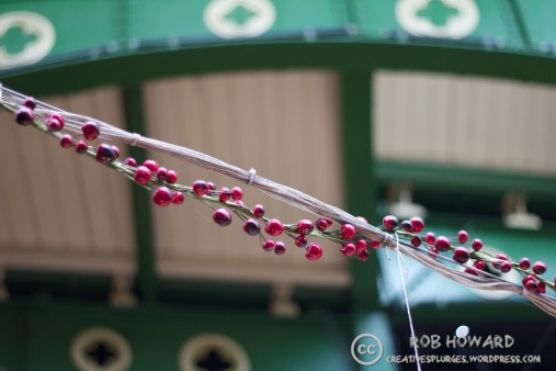 I'm not really sure why these were above a fish stall, but here they are. | 1/250sec, f/1.8, ISO 500, 50mm
