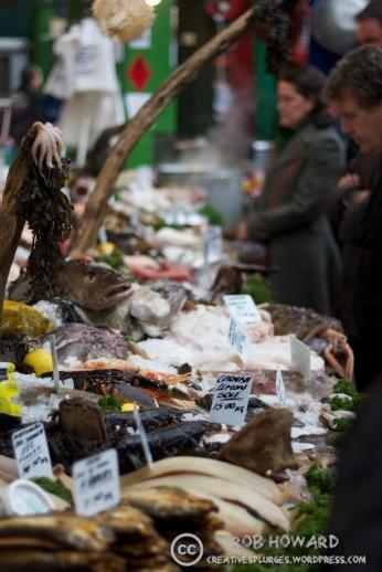 A fishmonger's stall.