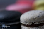 macro shot of some colourful macaroons