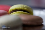 macro shot of some macaroons