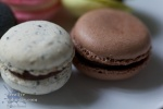 close up of a pair of macaroons