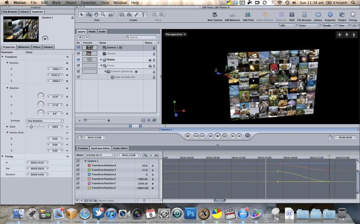 screenshot of Apple Motion 4
