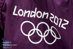 The London 2012 logo on the back of one of the GamesMakers.