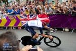 Medal hopeful Bradley Wiggins gets a huge cheer.