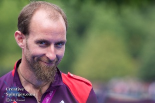 A cheeky look from one of the GamesMakers.