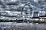 A HDR shot of the London Eye from the 'tourist bridge' of Westminster.