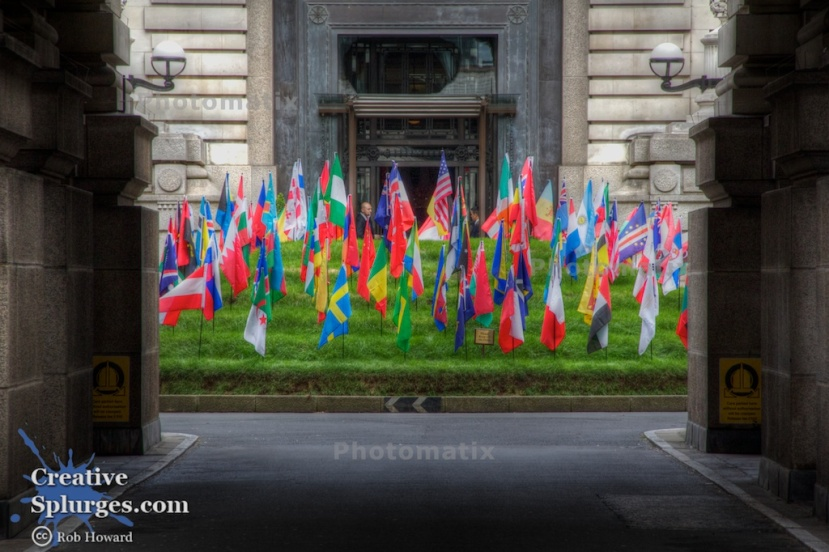 The flags of the world. (HDR)
