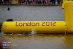 A London 2012 branded marker telling the swimmers when to turn.