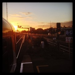 Sunset at Clapham Junction