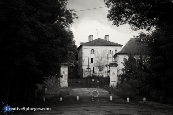 An eerie-looking house in Verdun, France
