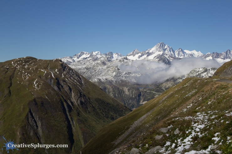 The view of the Alps from the Furka Pass, Switzerland