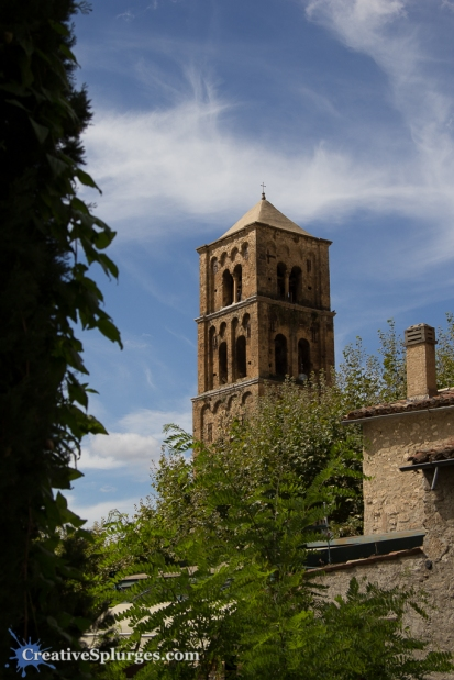 The church at Moustiers-Sainte-Marie, France