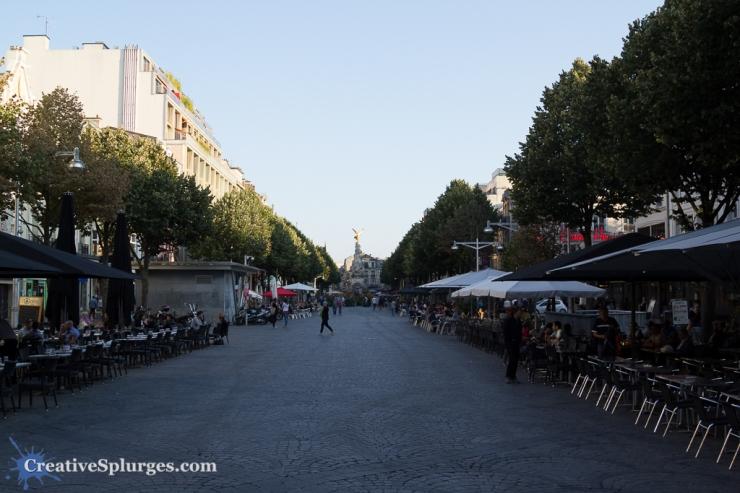 The Place Drouet d'Erlon, Reims, France